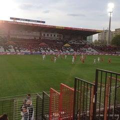 Photo taken at BSFZ Arena - Südstadt Stadion - Trenkwalder Arena by Josef S. on 4/8/2014