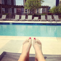 Photo taken at One Superior Place Pool Deck (One W Superior) by Jennifer K. on 5/26/2013