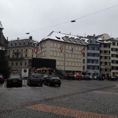 Photo taken at Münsterhof by Ismail S. on 12/15/2012