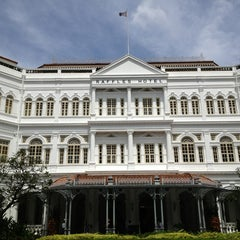 Photo taken at Raffles Hotel by Samm H. on 2/23/2013