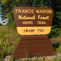Photo taken at Swamp Fox Trail Head by Patrick A. on 4/26/2014
