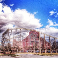 Photo taken at The Desperado Roller Coaster by Paulette F. on 2/3/2014