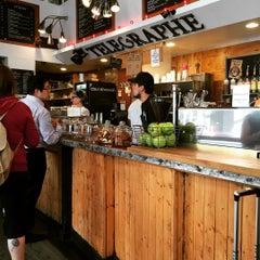 Photo taken at Telegraphe Café by Mark K. on 9/16/2015