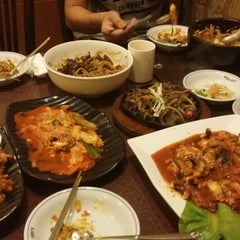 Photo taken at Auntie Kim's Korean Restaurant by Joanne K. on 6/21/2014