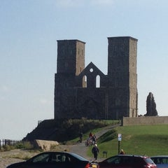 Photo taken at Reculver Towers and Roman Fort by Matt B. on 9/12/2014