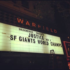 Photo taken at The Warfield Theatre by Zac W. on 10/29/2012