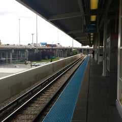 Photo taken at CTA - Ashland by Mark S. on 9/20/2013