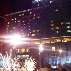 Photo taken at Courtyard by Marriott Seoul Times Square by Miri C. on 12/9/2012