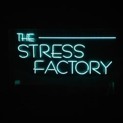 Photo taken at Stress Factory Comedy Club by Kimber B. on 3/9/2013