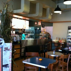 Photo taken at Einstein Bros Bagels by Ashley Y. on 9/29/2012