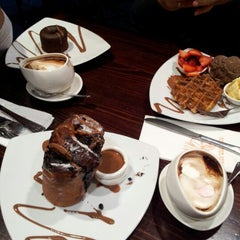 Photo taken at Max Brenner Chocolate Bar by Jo R. on 10/6/2012