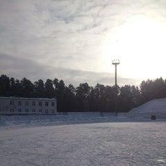"Photo taken at Стадион ""Локомотив"" by Екатерина Г. on 2/1/2014"