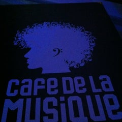 Photo taken at Cafe de La Musique by July T. on 7/11/2012