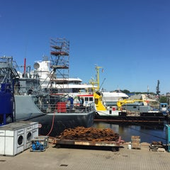 Photo taken at Neue Jadewerft by Bjorn M. on 6/10/2015