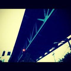 Photo taken at Ship Canal Bridge by Kate K. on 10/31/2012