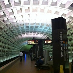 Photo taken at Foggy Bottom-GWU Metro Station by Vahid O. on 10/3/2012