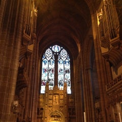 Photo taken at Liverpool Cathedral by Ramesh R. on 4/13/2013