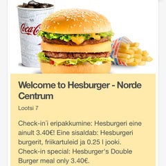 Photo taken at Hesburger by Павел Г. on 2/21/2014