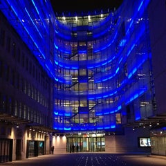 Photo taken at BBC Broadcasting House by Adam Z. on 3/7/2013