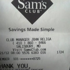 Photo taken at Sam's Club by Sunday on 12/21/2012