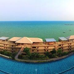 Photo taken at Royal Phala Cliff Beach by zinezatato on 4/22/2015