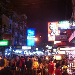 Photo taken at ถนนข้าวสาร (Khao San Road) by phikun C. on 2/9/2013