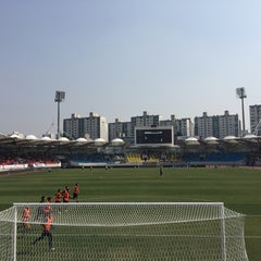Photo taken at 탄천종합운동장 (Tancheon Sports Complex) by kwansung k. on 4/2/2016