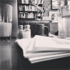 Photo taken at The Novel Cafe by Matt D. on 1/18/2015