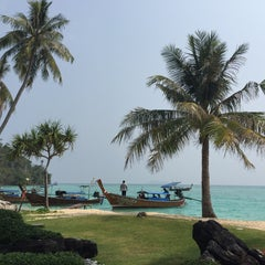 Photo taken at Phi Phi Island Village by Cowgirl on 3/20/2015