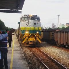 Photo taken at Estação Ferroviária Intendente Câmara (EFVM) by Lucas M. on 6/22/2015