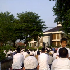 Photo taken at Masjid Agung Purwakarta by Rian G. on 10/25/2012