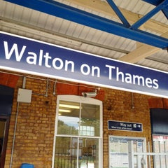 Photo taken at Walton-on-Thames Railway Station (WAL) by James S. on 5/24/2015