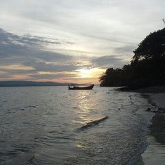 Photo taken at Tanjung Lesung by Nurul Fajri R. on 10/13/2013