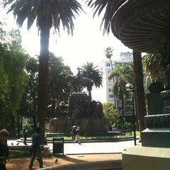 Photo taken at Plaza 9 de Julio by Marie O. on 2/28/2013