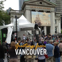 Photo taken at Vancouver International Jazz Festival by Justin B. on 6/23/2013
