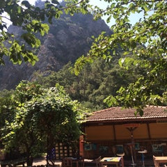 Photo taken at Olympos Deep Green Bungalows by Umut Y. on 8/8/2015