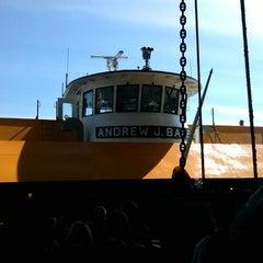 Photo taken at Staten Island Ferry Boat - Andrew J. Barberi by Daniel R. on 4/14/2013