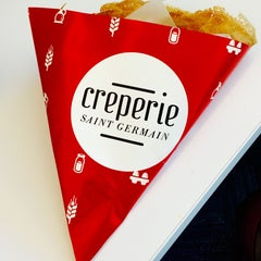 Photo taken at Creperie Saint-Germain by Shivani A. on 7/16/2015