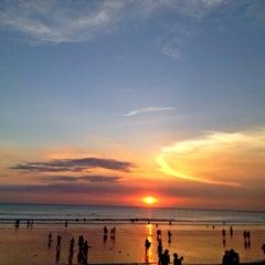 Photo taken at Pantai Kuta (Kuta Beach) by Helvia M. on 4/29/2013