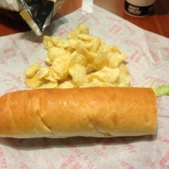 Photo taken at Jimmy John's by Rebecca S. on 8/28/2013