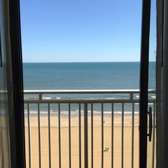Photo taken at Holiday Inn Express & Suites Va Beach Oceanfront by Mike N. on 10/6/2014