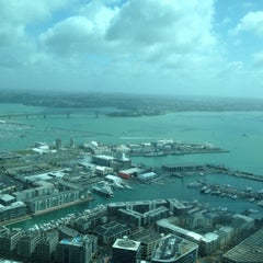 Photo taken at Sky Tower by at T. on 10/5/2012