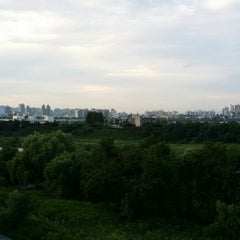 Photo taken at 광평교 by Jason S. on 7/10/2014