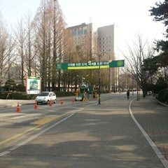 Photo taken at 건국대학교 (Konkuk University) by Soomin(Simon) S. on 2/28/2013