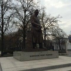 Photo taken at Pomnik Marszałka Piłsudskiego / Piłsudski Monument by Woo choul J. on 4/6/2014
