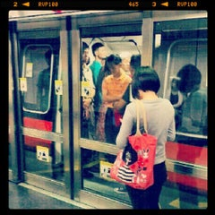 Photo taken at Braddell MRT Station (NS18) by Tobie W. on 10/24/2012