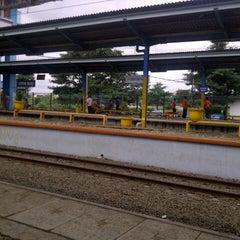 Photo taken at Stasiun Depok Baru by Permata S. on 1/4/2013