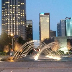 Photo taken at Klyde Warren Park by Jesse L. on 2/27/2013