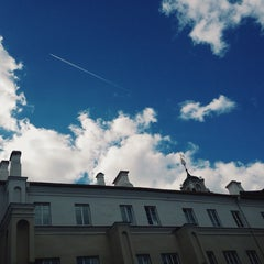 Photo taken at M. K. Sarbievijaus kiemas | M. K. Sarbievius Courtyard by Ieva on 9/4/2014