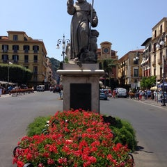 Photo taken at Piazza Tasso by Uf T. on 7/18/2013